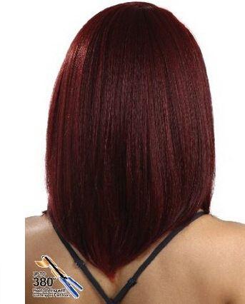 2016 vente chaude Bourgogne Droite long Bob Dentelle Avant Perruque Naturel Résistant À La Chaleur Cheveux Ombre Perruques
