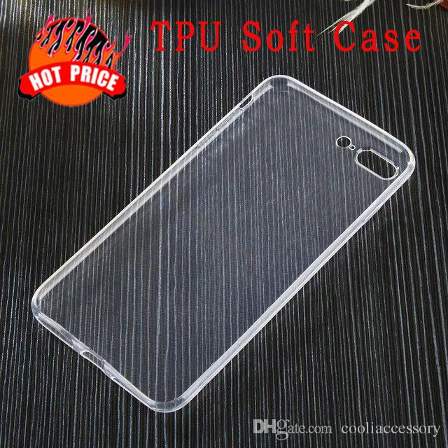 HOT For Iphone 8 7 Plus I7 7plus 7GEN Iphone8 Soft TPU Case Ultra thin Clear Transparent Ultrathin Silicone Crystal skin Cell phone Luxury