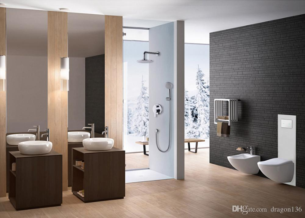 BLL Tub mixer Brass faucet with wider Tap hand shower Round Rain Bathroom Shower Head Brass Hand Shower 6018A
