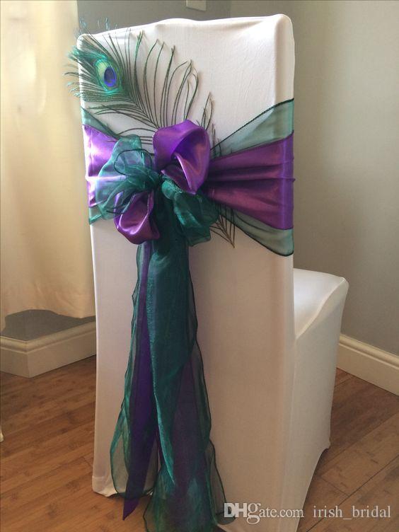 2019 2016 Organza Taffeta Feather Flower Wedding Chair