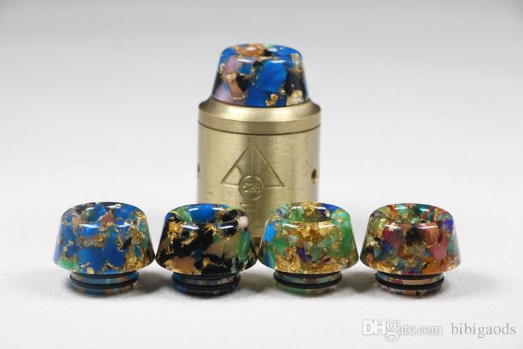 New design Mushroom Head Wide Bore 810 Starry Sky Epoxy Resin Drip tips For tfv8 Kennedy RDA 810 Mouthpiece With Retail Package