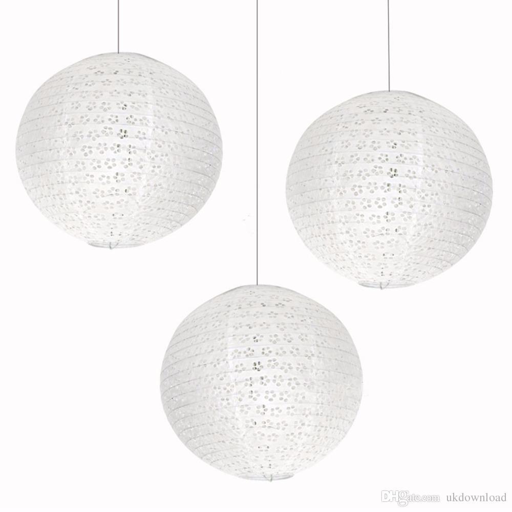 8 20 Cm White Round Chinese Japanese Paper Lantern Ball Wedding ...