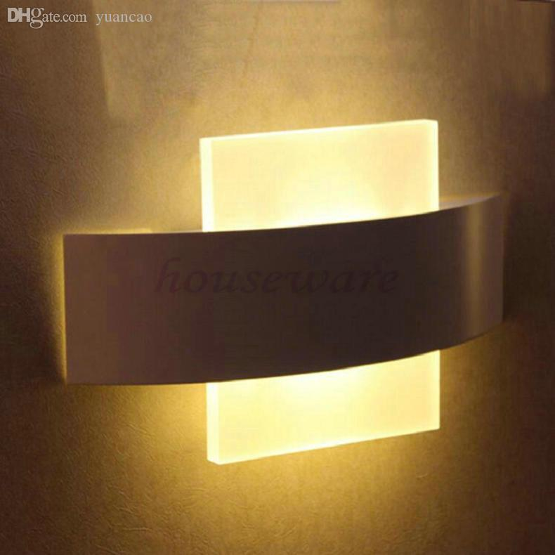 2018 Wholesale Modern 8w Led Wall Sconce Square Led Wall L& Led Wall Light Living Sitting Room Foyer Bedroom Bathroom Wall L& Wx191 From Yuancao ... & 2018 Wholesale Modern 8w Led Wall Sconce Square Led Wall Lamp Led ...