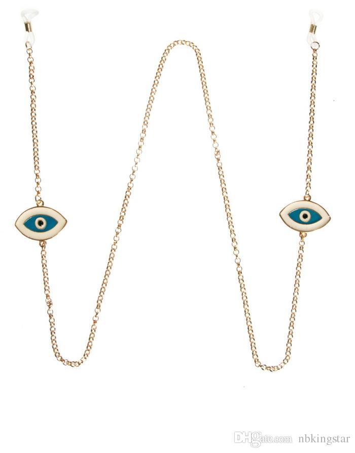 / Metall goldene Kreuz Brille Ketten Brillen Kabel Vogel Fox Cross Sonnenbrille Lanyard Kette Kostenloser Versand