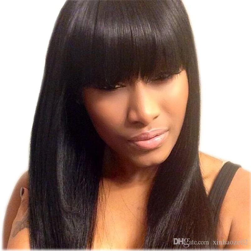 8A Quality High Ponytail Full Lace Wigs Silky Straight Lace Front Wig Affordable Malaysian Full Lace Human Hair Wigs
