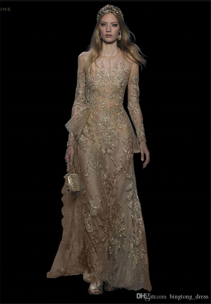 2016 Elegant Elie Saab Evening Dresses Illusion Couture Celebrity ...