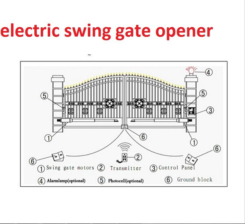 2019 Good Quality Electric Gates Electric Swing Gate
