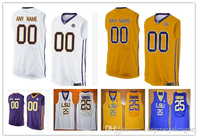 595789f62 2019 Mens LSU Tigers College Basketball Custom  1 25 33 74 88 99 White  Yellow Purple Stitched Personalized Any Name Any Number Jerseys S 3XL From  ...