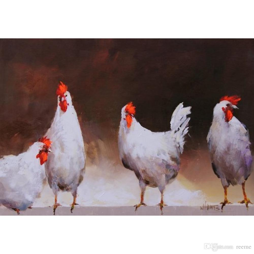 Großhandel Animal Paintings Willem Haenraets Huhn Moderne Kunst Auf ...