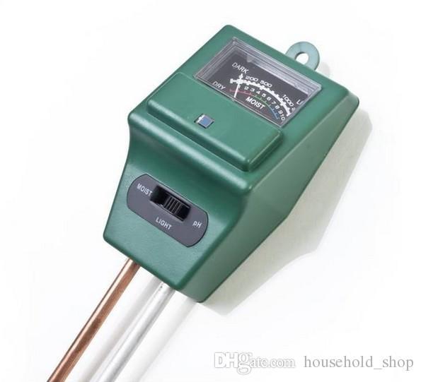 Misuratore del tester del suolo Garden Lawn Plant Pot UMIDO LUCE PH 3 in 1 Strumento sensore Nessun bisogno di batteria TESTER DI TERRA DHL