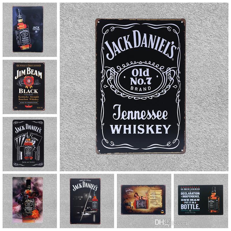 Best Retro Beer Brand Jack Daniels Whiskey Metal Poster Wall Art ...