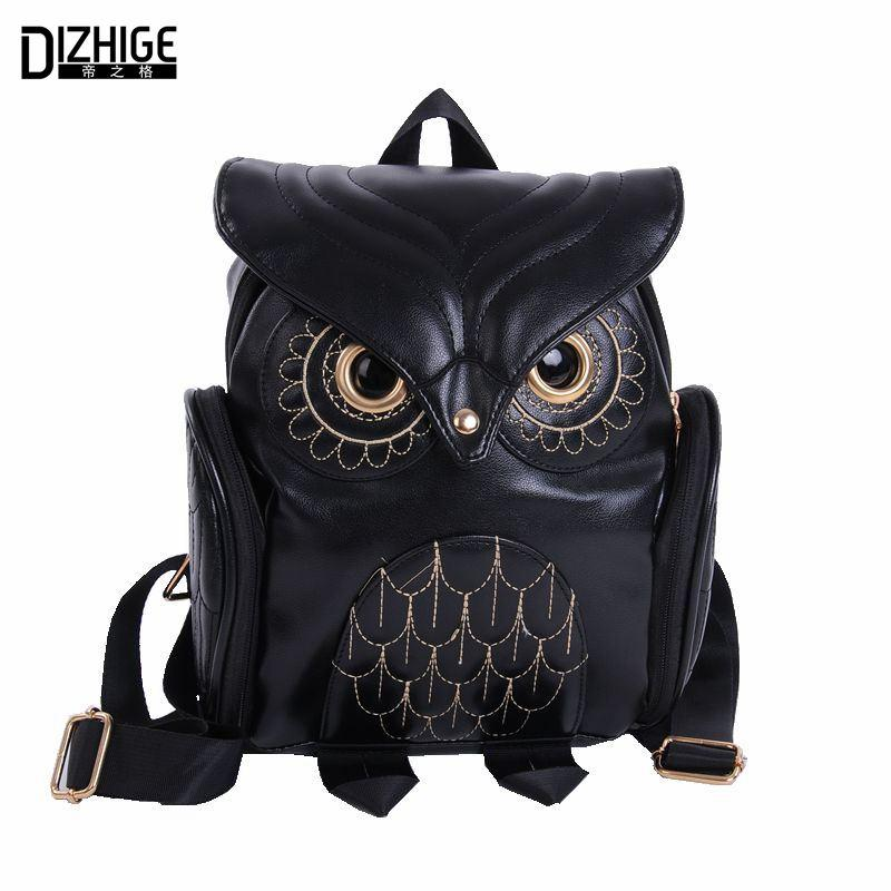 Fashion Cute Owl Backpack Women Cartoon School Bags For Teenagers Girls PU  Leather Women Backpack 2016 Brands Mochila Sac A Dos Leather Backpack Purse  ... 13f4d05cf1a