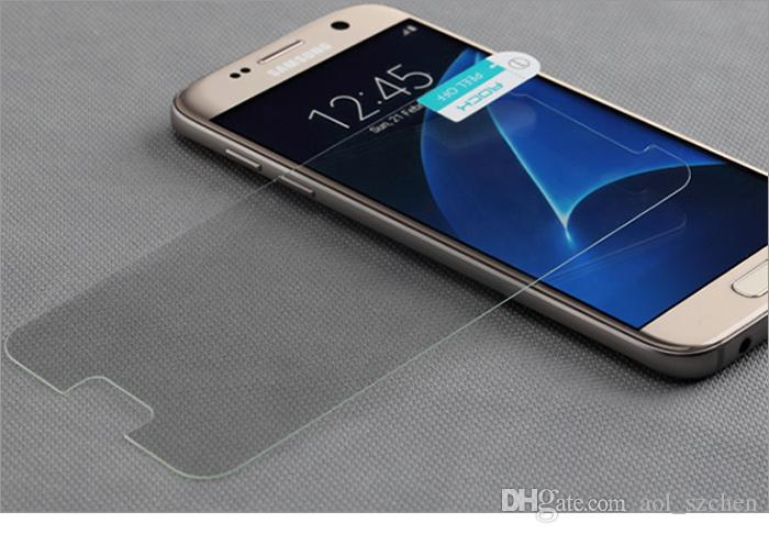 耐圧性の耐圧ガラスの透明なフロントスクリーンプロテクターはiPhone 5S SE 6S 6S 6 Splus Samsung Galaxy S7 S6注5 4紙パッケージ
