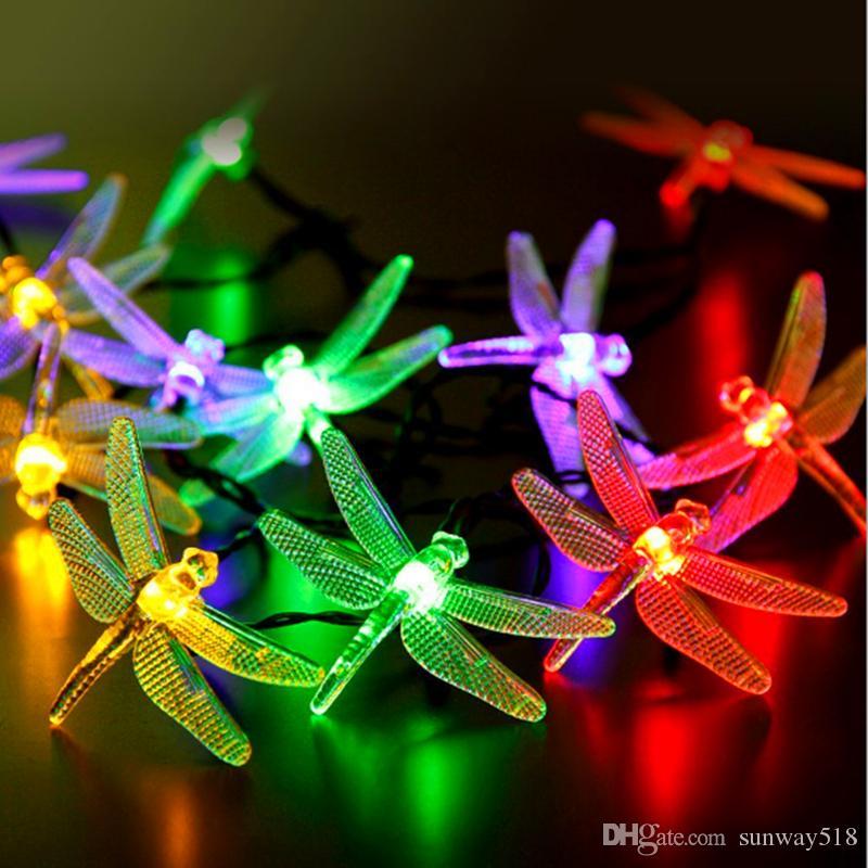 best solar powered christmas dragonfly led string lights 16ft 20 leds waterproof fairy lighting for christmas trees garden light under 1508 dhgatecom
