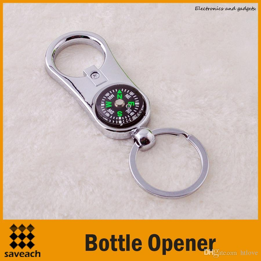 Wholesale - Creative Personalized Compass Bottle Opener Keychain Key ...