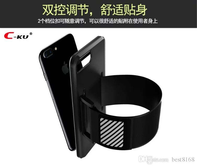 Sport Armband+Soft TPU Hybrid Case For Iphone X 8 7/Plus/6 6S/Plus SE 5 5S Card Slot Box Silicone Belt Arm band Skin Cover