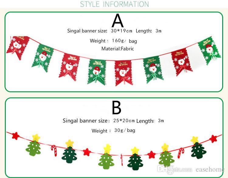 Nouvelles bannières de Noël 10 modèles disponibles pour la décoration de la maison de fête de Noël bannières en tissu non tissé livraison gratuite