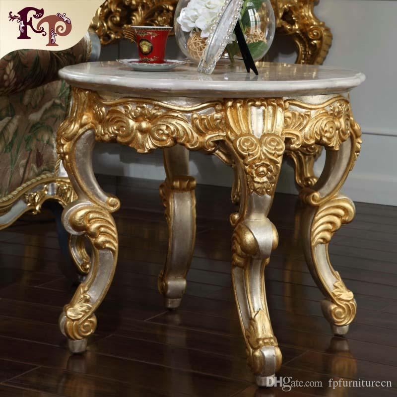 2018 Antique Baroque Living Room Furniture French Classic Coffee Table With Marble  Top Italian Roundcoffee Table From Fpfurniturecn, $1095.48 | Dhgate.Com