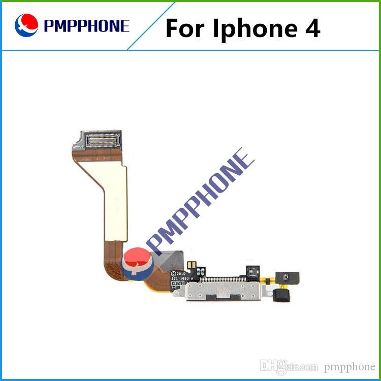 Zwart Opladen Poort Dock Connector Flex-kabel voor iPhone 4 USB-opladerpoort met Flex-kabel