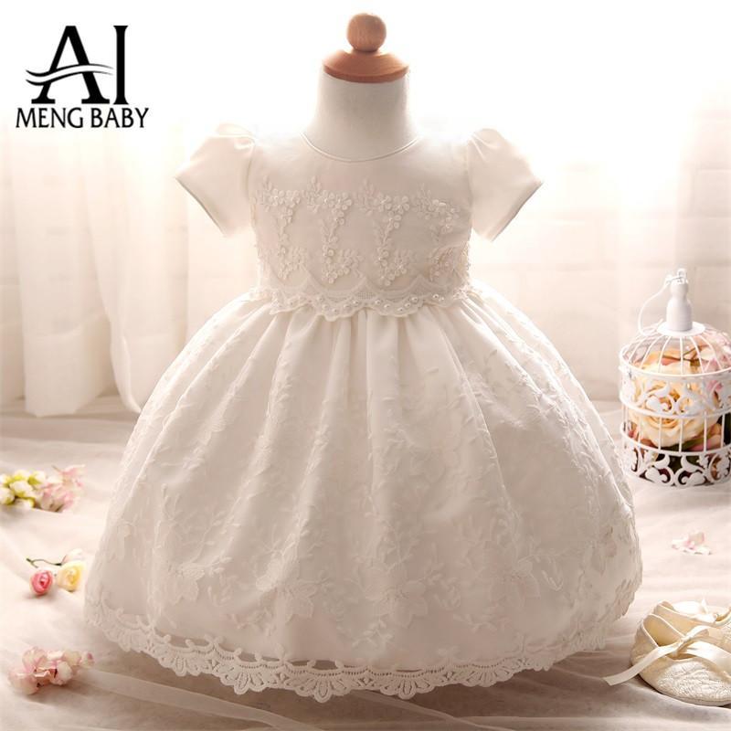 2018 Wholesale Ai Meng Baby Newborn Dress Infant Christening Gown ...