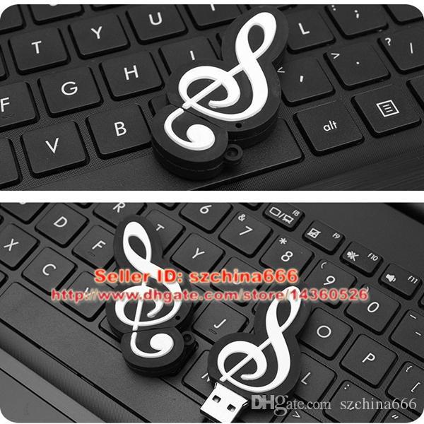 Cartoon Musical Notation model usb flash drive 8GB usb2.0 pen drive 2GB u disk pendriver flash memory usb stick 16GB 4GB