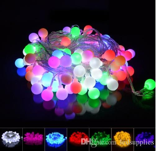 10m 100 LED Bola Fada String Luzes Lâmpadas Garlandas Para Árvore de Natal Xmas Casamento Casamento Jardim Decoração Exterior 110 V-240V