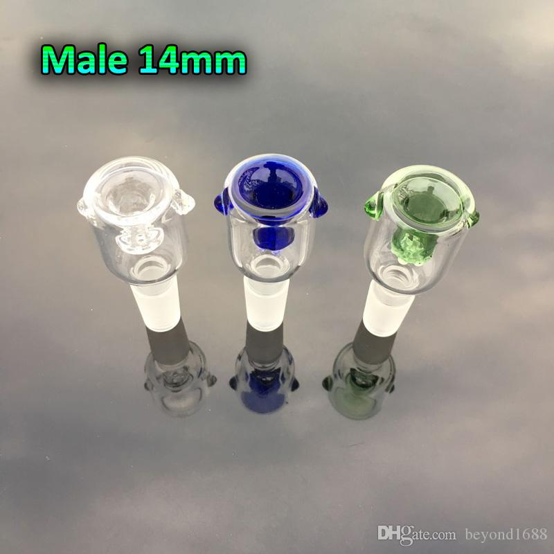 Wholesale 2016 New glass bowl With Honeycomb Screen Round Female Male 14mm 18mm Glass Bowl Water Pipe For glass bongs oil rig