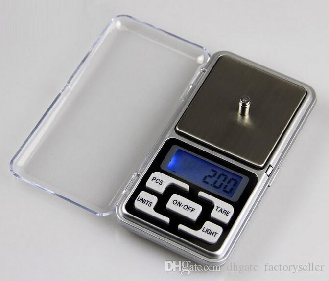 200g x 0.01g Mini balanza electrónica electrónica de joyería Balance Pocket Gram Pantalla LCD Envío gratis T0015