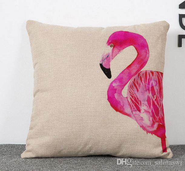 Sample Order Flamingo Throw Cushion Cover Sofa Chair Pillow Case
