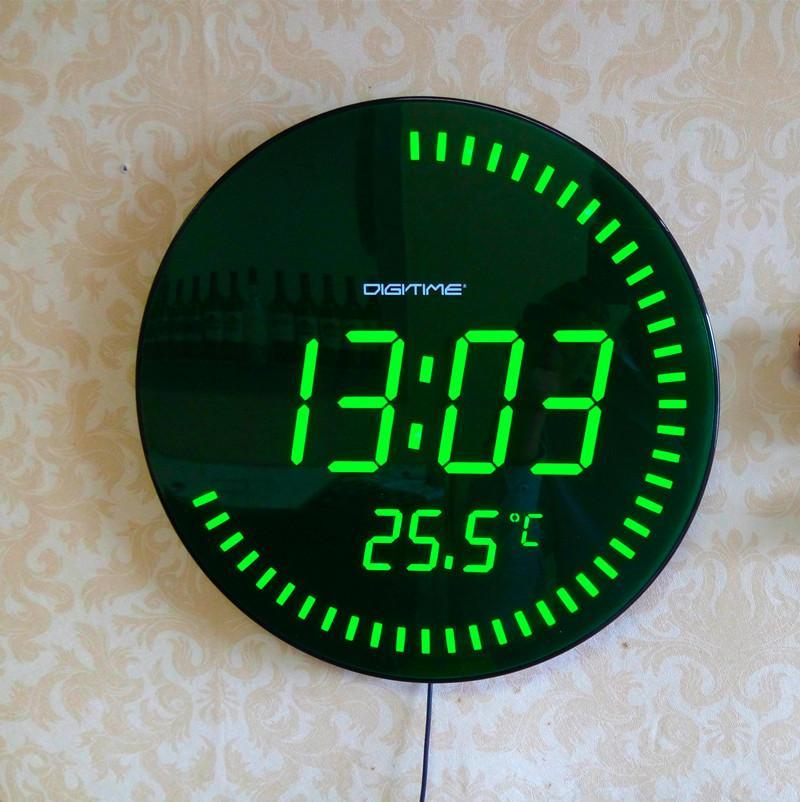 3d Creative Circular Large Led Digital Wall Clock Modern Design Home