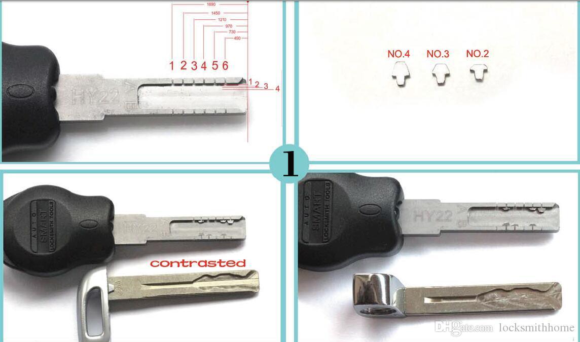 새로운 유형 자동차 키 조합 도구 HY22 자동 키 구조 조정 도구 키 몰드 클램프 픽업 도구 잠금 공구
