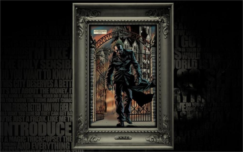 joker comic art dc comics batman 24x36 inch silk poster wall decor
