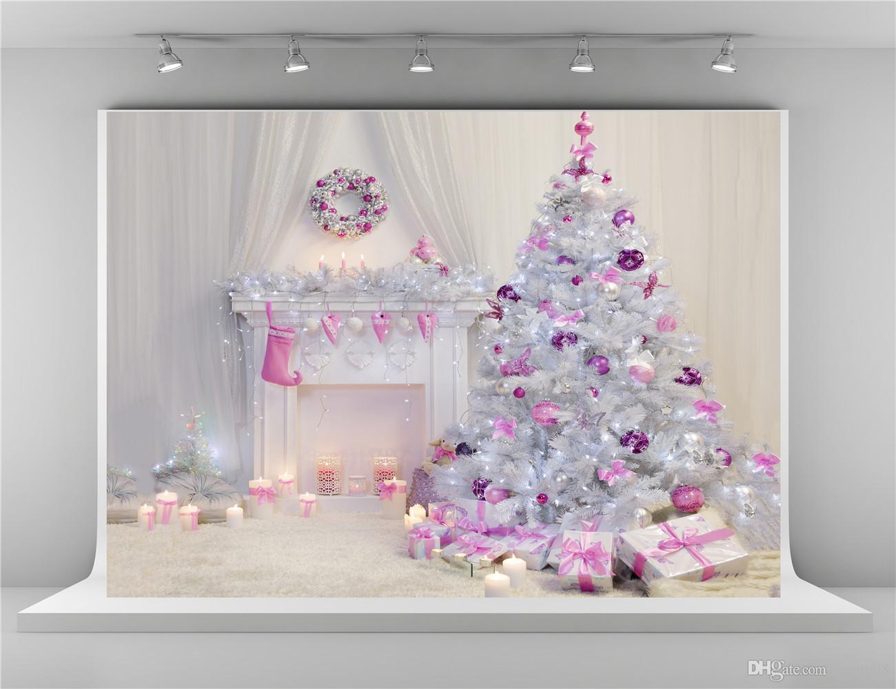 Fondos De Estudio Fotografico De Navidad Blanca 7x5 Pies De Arbol De Navidad Interior Telon De Fondo Blanco Para Arrugas De Fotografia Gratis