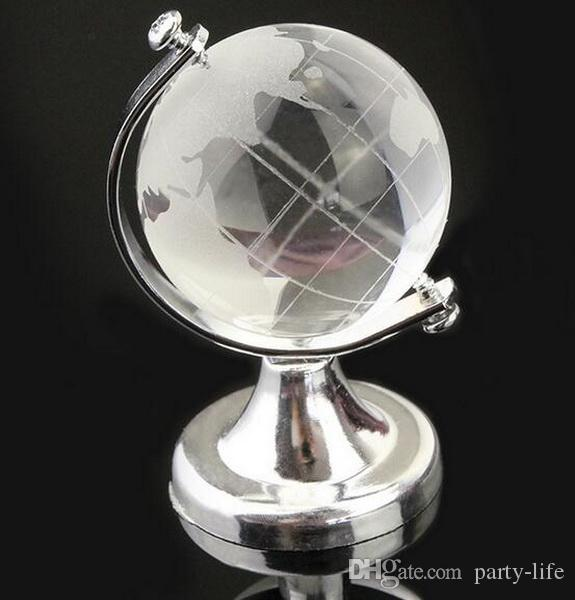 MagicBox World Globe Crystal Glass Clear Paperweight Desk Decor Wedding Favor