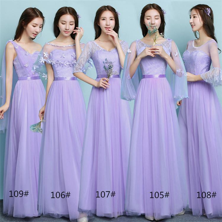 Women A Line Long Scoop Half Sleeve Lavender Party Prom Beach ...