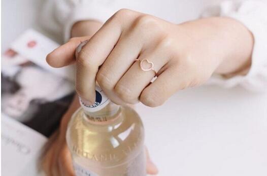 Marca de moda de 18 k anillo chapado en oro Midi anillo chapado en oro amor corazón encanto anillo entrega al por menor de forma gratuita