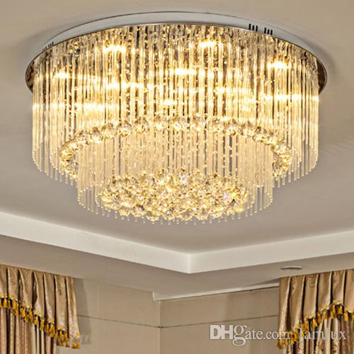 High End LED Crystal Ceiling Chandeliers Modern Creative Warm Round Led Chandelier  Lighting Pendent Lamps For Living Room Villa Hotel Hall Small Chandelier ... 094e157ea694