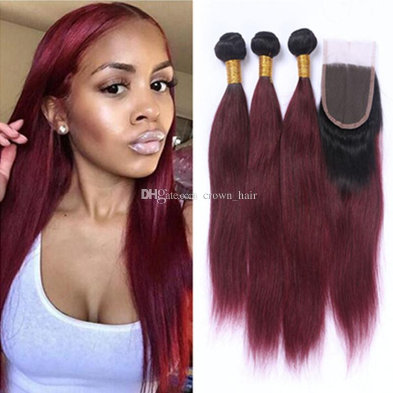 Cheap new arrival ombre wine red straight hair bundles with lace cheap new arrival ombre wine red straight hair bundles with lace closure burgundy 1b 99j hair bundles with top lace closure curly human hair weaves premium pmusecretfo Choice Image