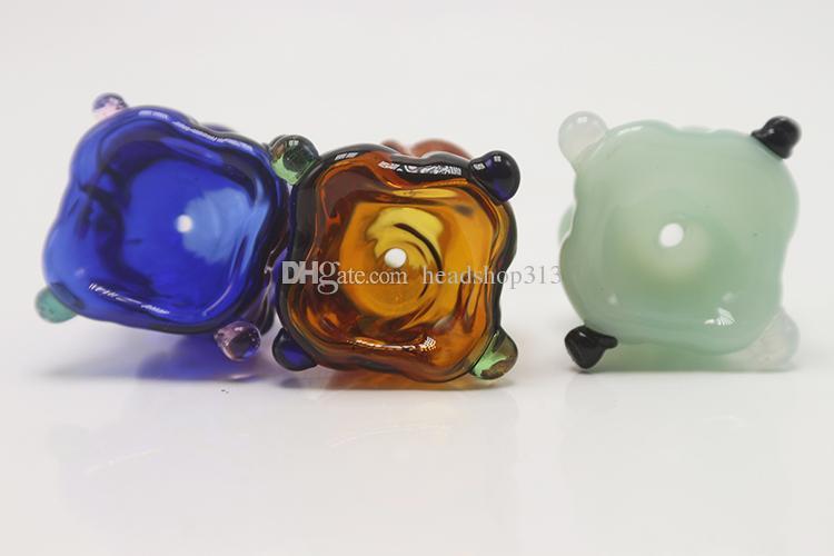 Новый 14 мм 18 мм Мужской Парик Wag Стеклянные Чаши Цветные Курительные Бонг Чаши Кусок Для Табака Стеклянные Водопроводные трубы Стеклянный Барботер Dab Rigs