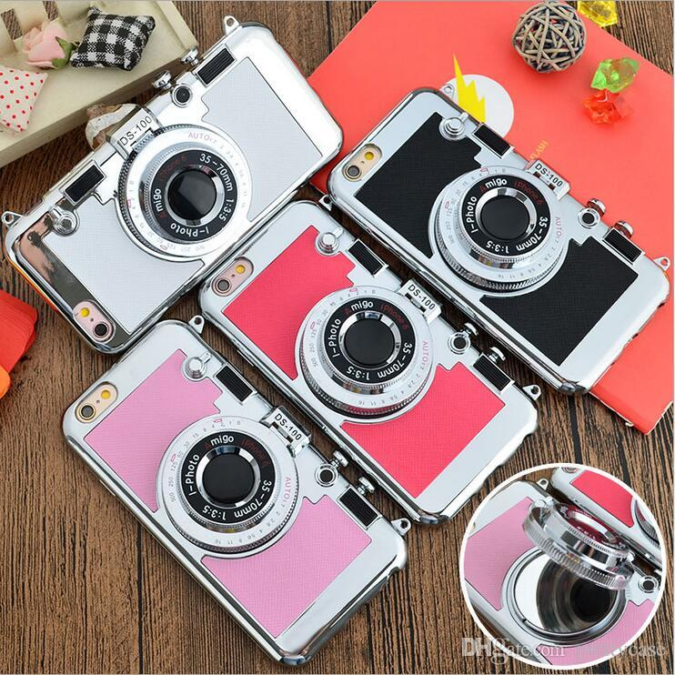 reputable site 0a6f7 4d182 South Korea Amigo Creative Camera Case Stand Holder Silicone PC Shockproof  Cover For iphone X 8 7 plus 6 6s plus 5s se With Retail Package