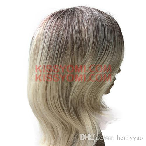 Cheap Long Wig Straight Kinkly Synthetic Hair Natural Black Ombre Blonde Wigs for Women Synthetic Wig Side Bang Wig
