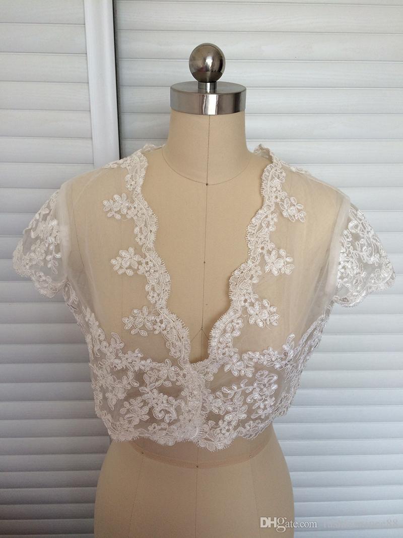 Großhandel Günstige Off White Lace Jacket Brautkleid Für Braut ...