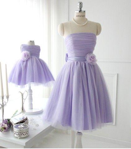 Hawaiian Purple Flower Girl Dress