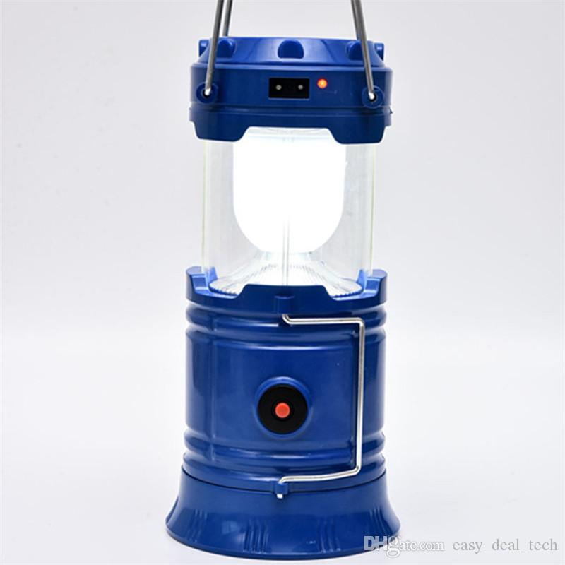 Solar Tent LED Light Rechargeable Lantern Waterproof LED Light Lantern For Traveling Camping Hiking Outdoor Lighting Q0071