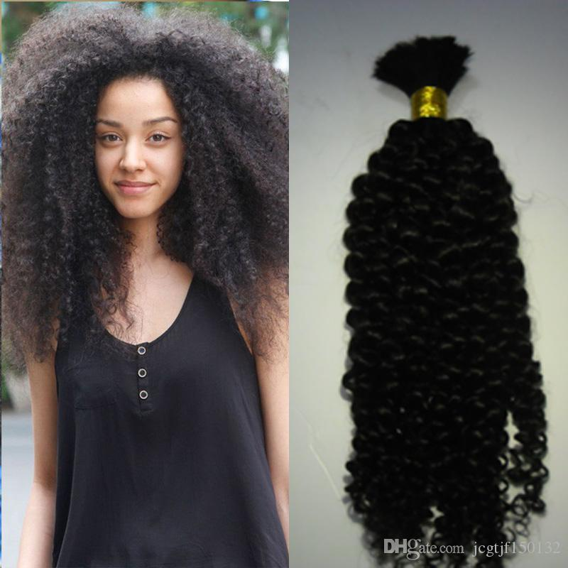 Natural Mongolian Afro Kinky Bulk Hair 100g Kinky Afro Hair Bulk