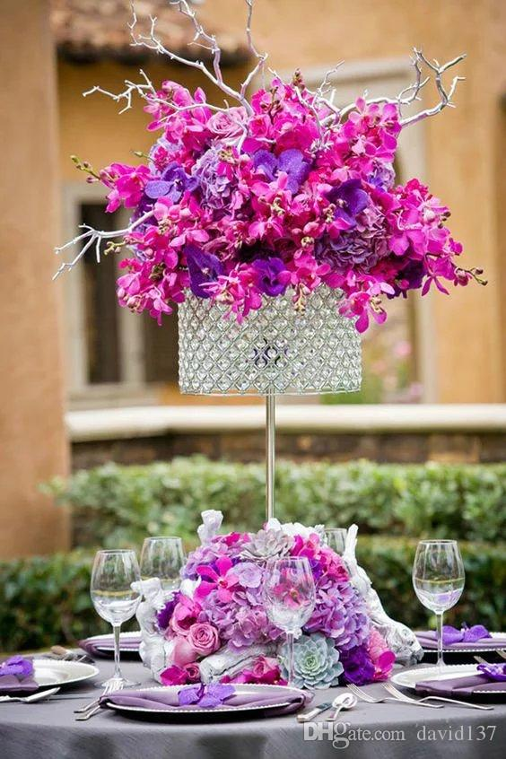 Bola de penas para casamentos decorativos, Wishies pena branca bola central de cristal