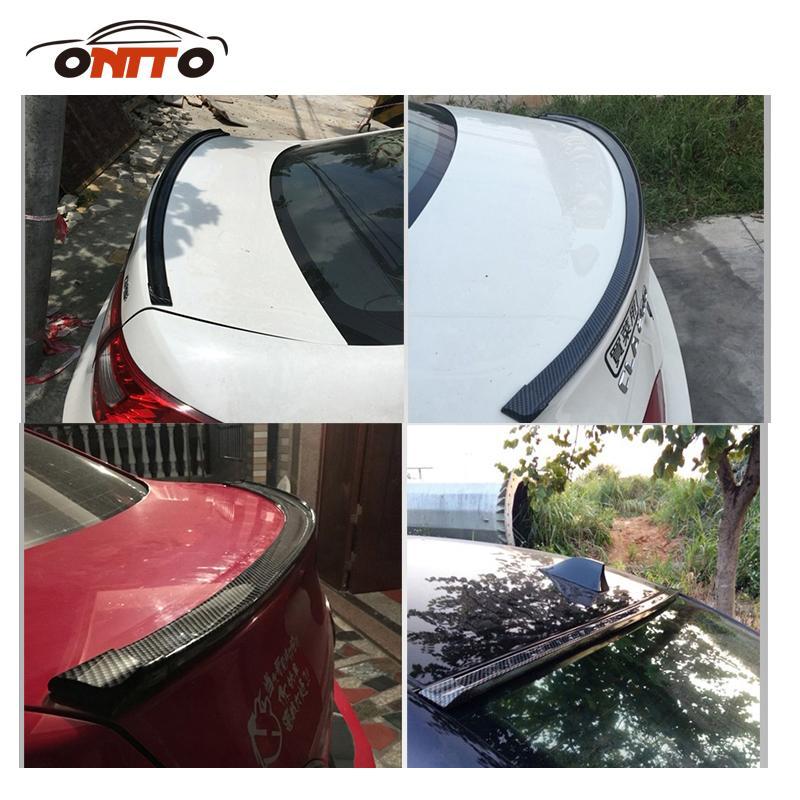 1.5M strisce decorative auto in fibra di carbonio PU auto tetto posteriore Spoiler ala Lip Sticker Kit coda tronco Spoiler universale tutti gli accessori auto