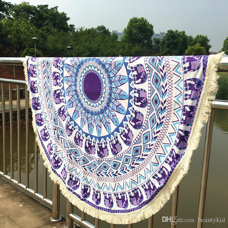 2019 Long Tassel Indian Mandala Tapestry Boho Polyester