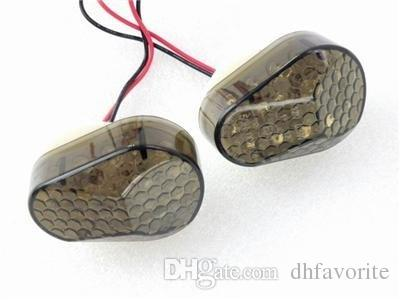 2x Smoke Lens Amber LED Indicatore di direzione Indicatore lampeggiante Indicatore di direzione Kawasaki ZX12R 2000-2005 / ZX10R 2004-2005 Sport Racing Bike