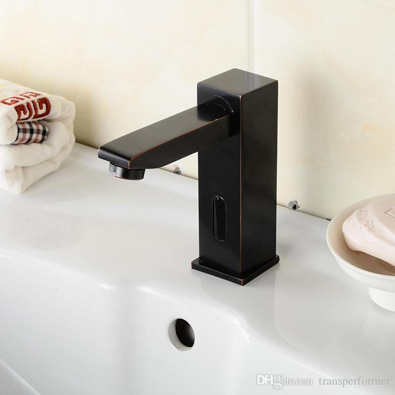 Exceptionnel Best Hot Black Plated Copper Faucet European Bathroom Faucet Infrared  Induction Faucet Basin 160313# Under $137.82 | Dhgate.Com